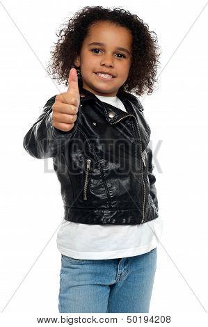 Stylish Child Savoring Sweet Success