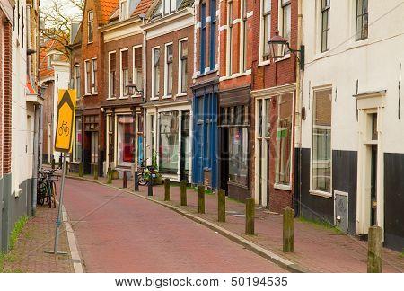 street in old town of Haarlem