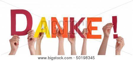Person Holding Danke