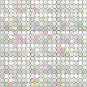 seamless texture of different pastel colored tiles poster
