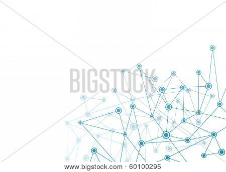 Abstract Background With Blue Dots And Net Vector