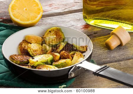 Succulent Sauteed Brussels Sprouts