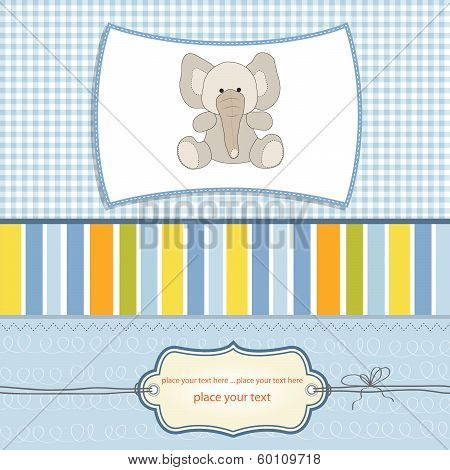 Welcome Baby Card With Elephant