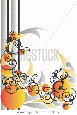 Illustration of an abstract background poster