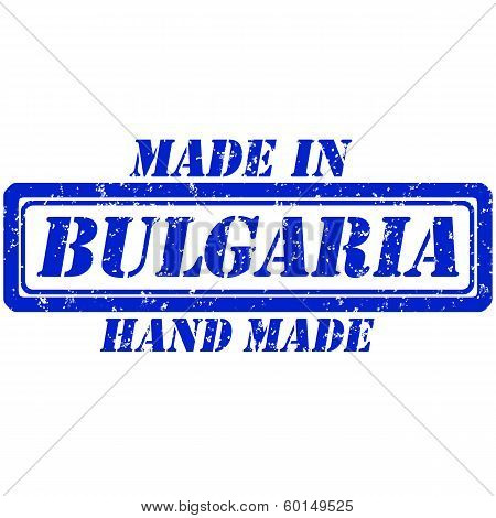 Rubber stamp hand made and made in bulgaria poster