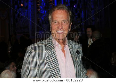 BEVERLY HILLS - FEB 16: Pat Boone performs in concert at the Saban Theater on February 16, 2014 in Beverly Hills, California