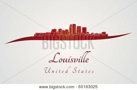 Louisville Skyline In Red