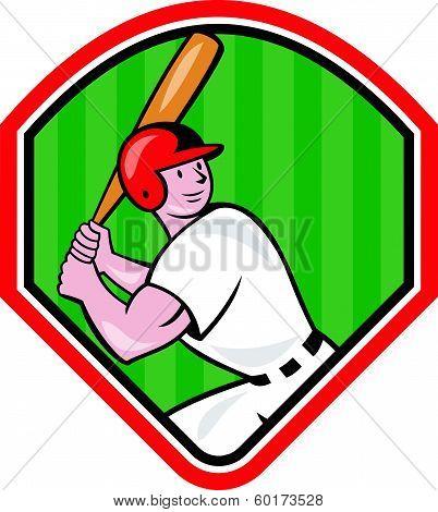 American Baseball Player Cartoon