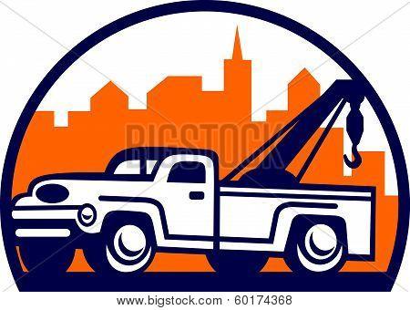 Vintage Tow Truck Wrecker Retro