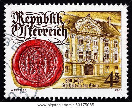Postage Stamp Austria 1981 St. Veit An Der Glan, Town Hall