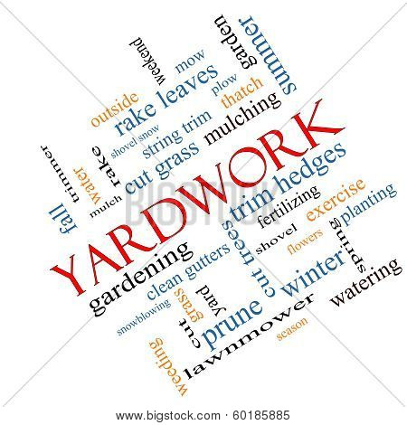 Yardwork Word Cloud Concept Angled