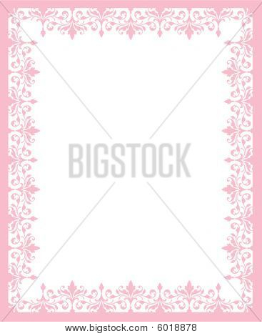 Pink And White Border