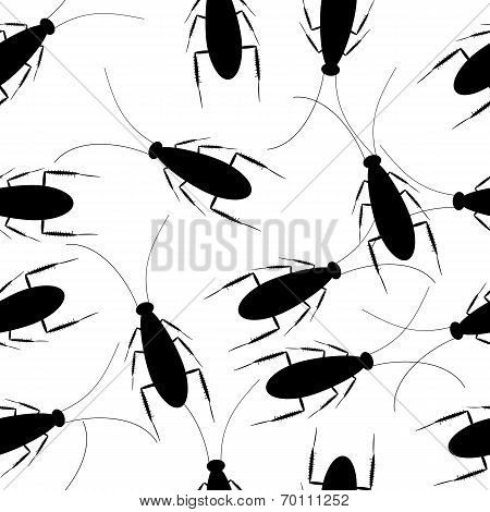 Cockroaches Seamless Pattern