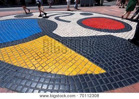 Mosaic By Joan Miro - Barcelona Spain