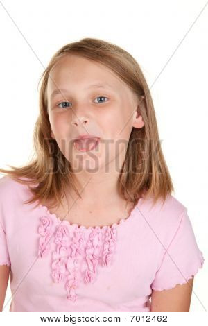 Young Girl Poking Out Tongue