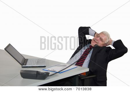 relaxed senior manager