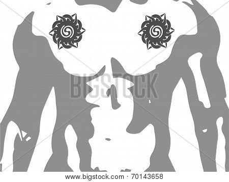 Iban or Sea Dayak tribal tattoo