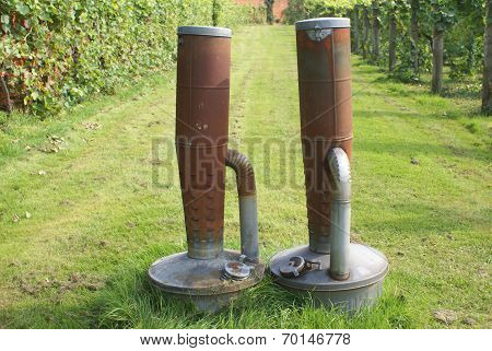 old heaters with fuel tanks