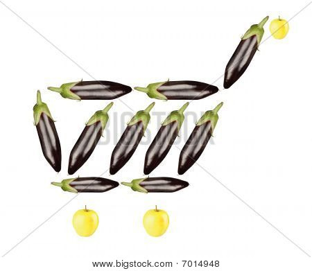 eggplant shopping cart