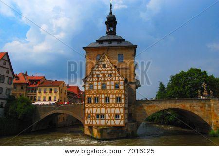 Island town hall in Bamberg Bavaria