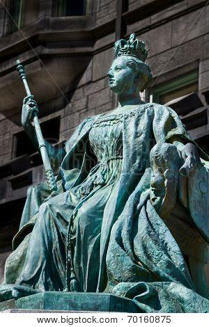 Queen Victoria monument in Montreal