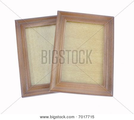 Picture of wooden scopes for images on a white background poster