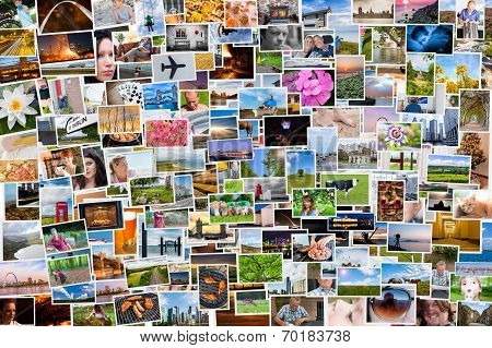 Collage Of Photos Of A Persons Life In 6X4 Ratio