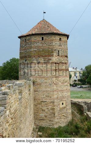 Publius Ovidius Naso Tower, Named By Famous Roman Poet, In Ancient Fortress Akkerman,ukraine