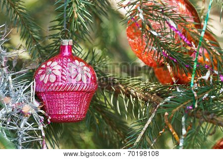 Pink House Christmas Decoration
