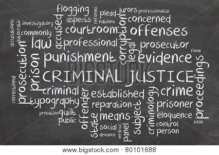 Word cloud for Criminal justice