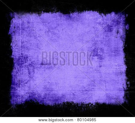 Violet grunge background texture with black frame