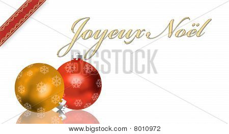 french Christmas greeting card