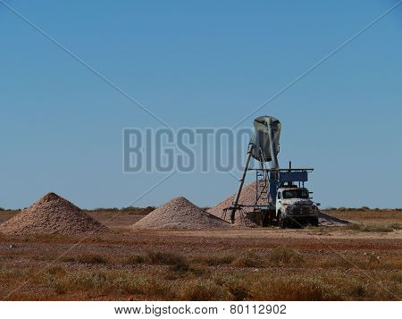 Australian mine pit in the outback