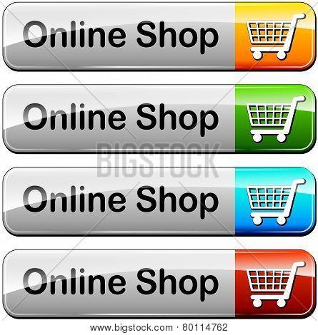 Online Shop Buttons