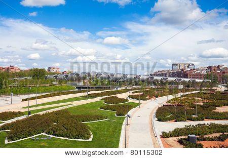 Arganzuela Bridge  And Madrid Rio Park, Madrid