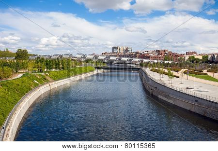 Arganzuela Bridge  And Madrid Rio Park, Madrid