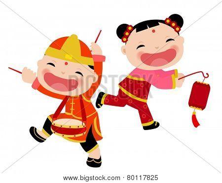 Chinese children - boy and girl