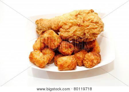 Take Out Chicken & Tator Tots