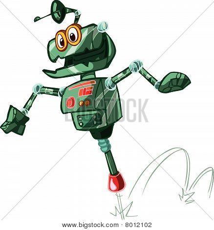 jumping stick robot