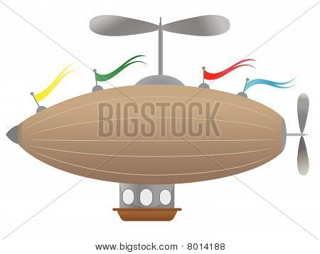 Fantasy Airship with flags