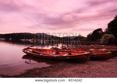 Boats At Ambleside, Lake District