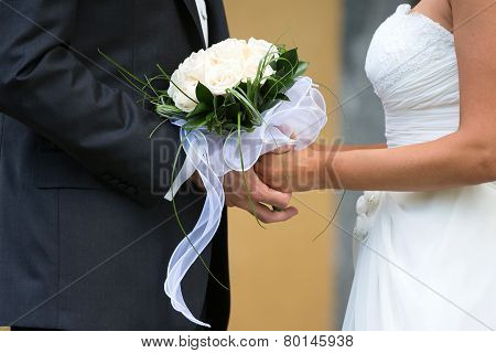 Bride And Groom In A Wedding Day