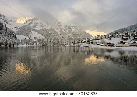 Swiss Village Sunrise