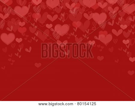 Valentine Background Heart Falling