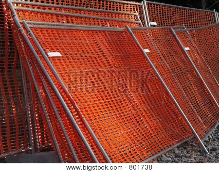 Stock of construction protection fences