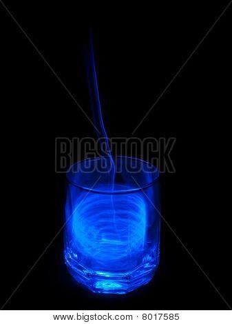 blue fluid glass