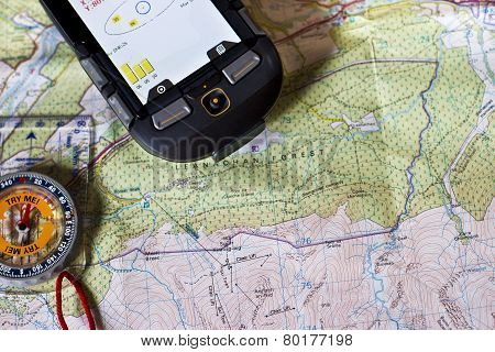 Map, Compass and GPS