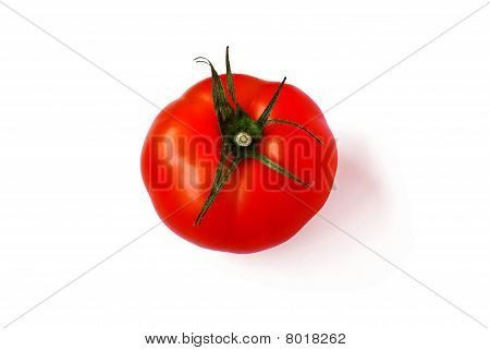 A Tomato, Isolated On White