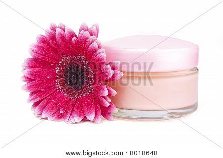 Face Cream And Gerbera Flower