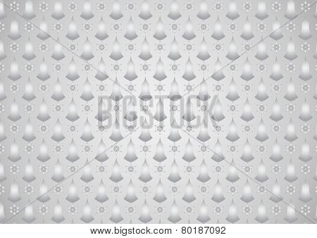Silver Retro Flower And Candlestick Pattern On Pastel Background